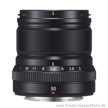 Fujifilm XF 50mm f/2 R WR sort