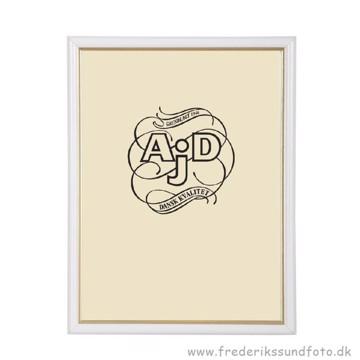 ADJ 3121 18x24 Ramme Hvid/Guld