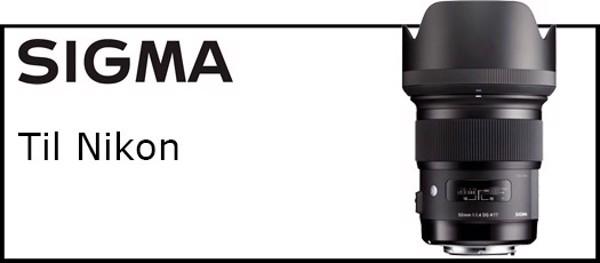 Billede til varegruppe Sigma objektiver