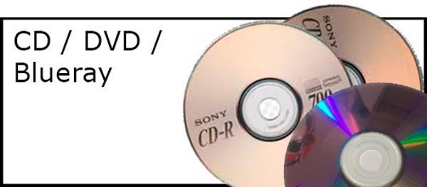 Billede til varegruppe CD/DVD/blueray skiver