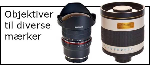Billede til varegruppe Objektiv & adapter til diverse
