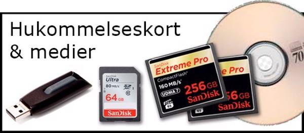Billede til varegruppe Memory kort HD & USB key
