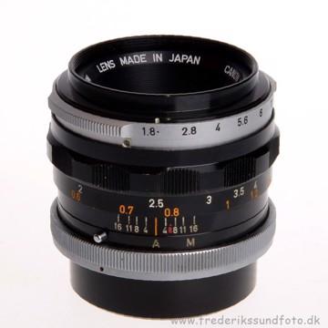 BRUGT Canon 50mm FL f/1.8 FD