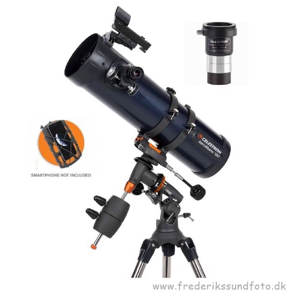 Celestron Astromaster 130EQ m/phone/kamera holder
