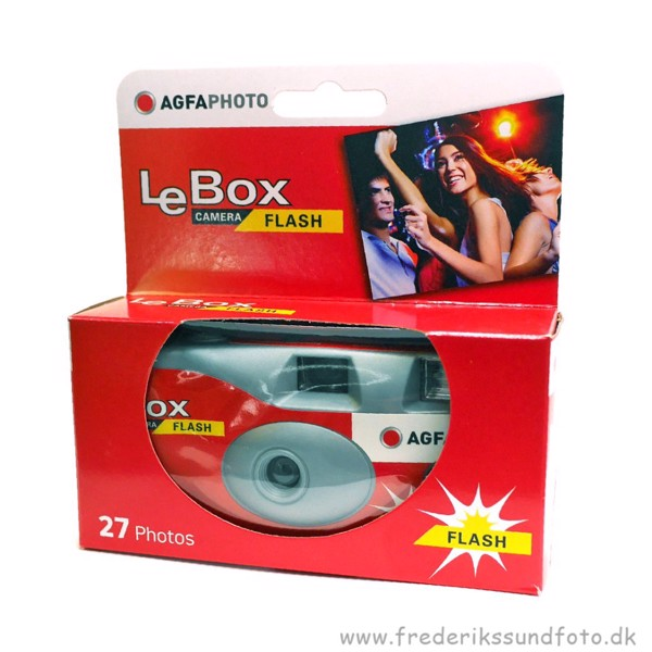 Agfa Le Box Engangskamera m/Blitz & 27 billeder