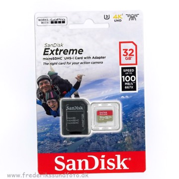 Sandisk 32GB 100 mb/s Micro SDHC UHS-3 Extreme