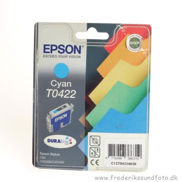 Epson T0422 Cyan blækpatron  (Udløbsdato 2009)