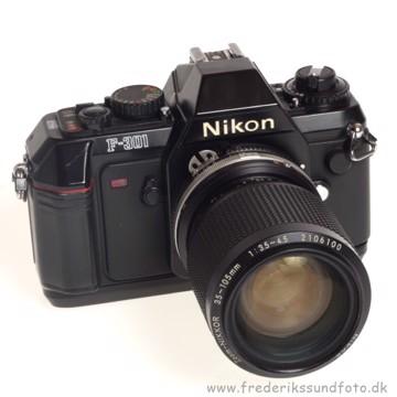 BRUGT Nikon F-301 m/35-105mm