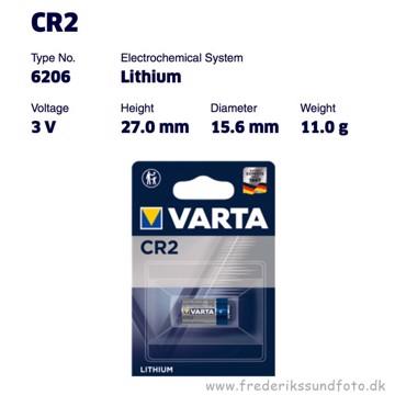 Varta CR2 Lithium batteri