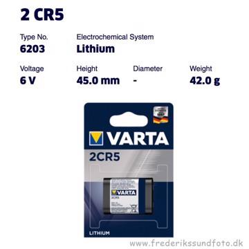 Varta 2CR5 Lithium batteri