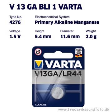 Varta V13GA / LR44 1,5v Alkaline batteri