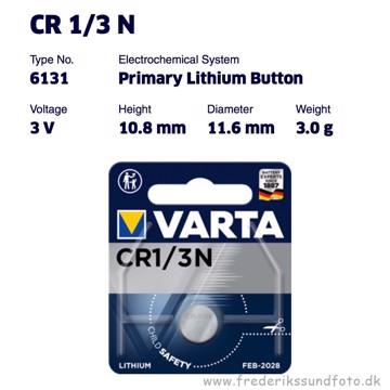 VARTA CR 1/3 N  3V Lithium