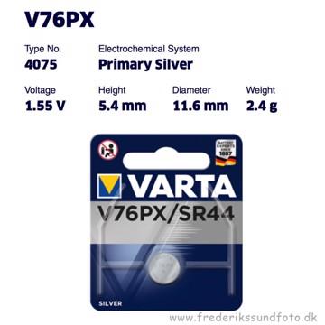 Varta V76PX/SR44 1,55v batteri