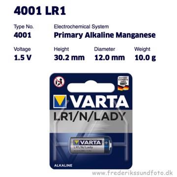 Varta LR1/LADY/N 1,5V Alkaline batteri