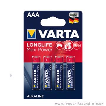Varta AAA MN2400 Longlife Max Power batteri 4 pak