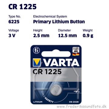 Varta CR1225 Lithium 3V batteri