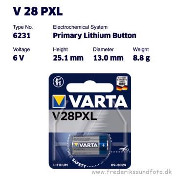 Varta V28PXL 6V Lithium batteri
