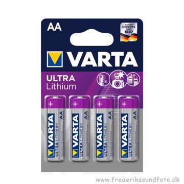 Varta AA Ultra Lithium batteri 4 pak