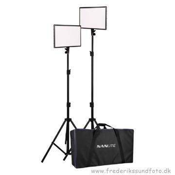 Nanlite LumiPad 25 LED 2 stk. m/stativer & taske