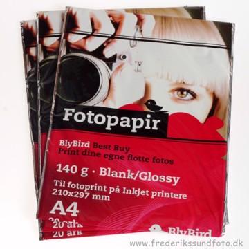 BlyBird fotopapir 140g A4 - 20pk