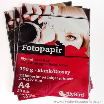 BlyBird fotopapir 190g A4 - 20pk