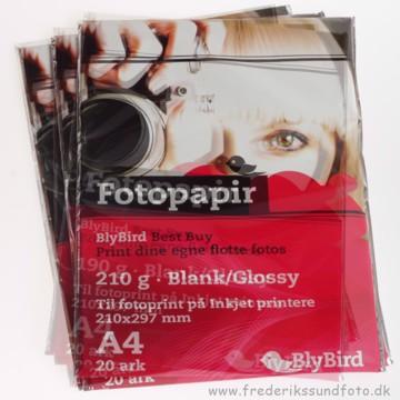 BlyBird fotopapir 210g A4 - 20pk