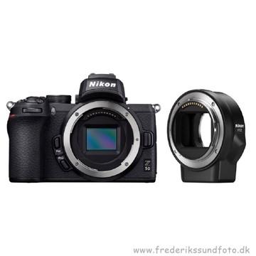 Nikon Z 50 m/FTZ adapter