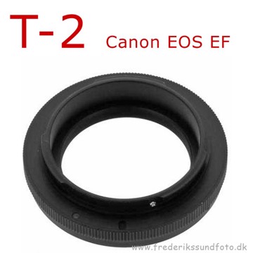 T2 adapter til Canon EOS EF bajonet