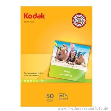 Kodak Glossy A4 180g. 50 ark Fotopapir