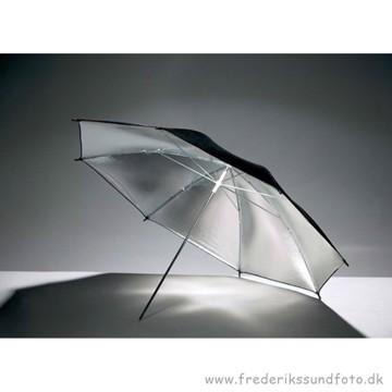Godax paraply Sølv/sort 84cm