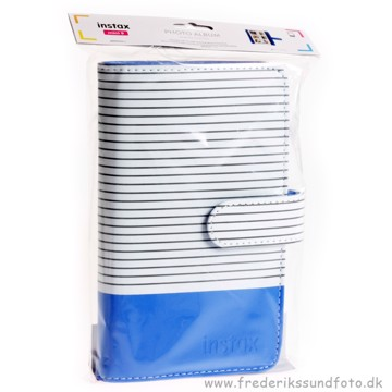 Fujifilm Instax mini Stribet Cobalt Fotoalbum