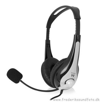 Ewent Headset EW3562 m/mikrofon og lydkontrol