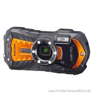 Ricoh WG-70 Vandtæt kamera orange